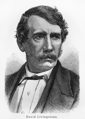 David Livingstone - Picture from Meyers Lexicon books written in German language. Collection of 21 volumes published between 1905 and 1909.
