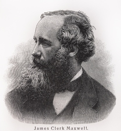 James Clerk Maxwell - Picture from Meyers Lexicon books written in German language. Collection of 21 volumes published between 1905 and 1909.  Stock Photo - 11259847