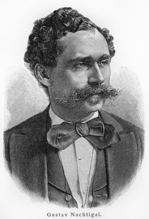 commissioner: Gustav Nachtigal - Picture from Meyers Lexicon books written in German language. Collection of 21 volumes published  between 1905 and 1909.