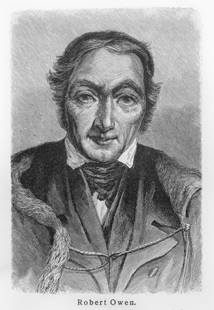 Robert Owen - Picture from Meyers Lexicon books written in German language. Collection of 21 volumes published  between 1905 and 1909.