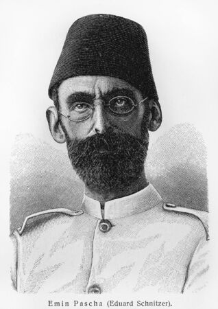 eduard: Mehmed Emin Pasha - Picture from Meyers Lexicon books written in German language. Collection of 21 volumes published between 1905 and 1909.