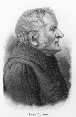 John Dalton - Picture from Meyers Lexicon books written in German language. Collection of 21 volumes published  between 1905 and 1909. Editorial