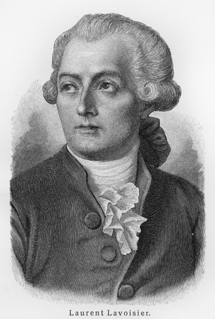 Antoine Laurent Lavoisier - Picture from Meyers Lexicon books written in German language. Collection of 21 volumes published  between 1905 and 1909.