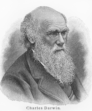 darwin: Charles Darwin - Picture from Meyers Lexicon books written in German language. Collection of 21 volumes published between 1905 and 1909.