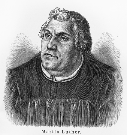 Martin Luther - Picture from Meyers Lexicon books written in German language. Collection of 21 volumes published  between 1905 and 1909.