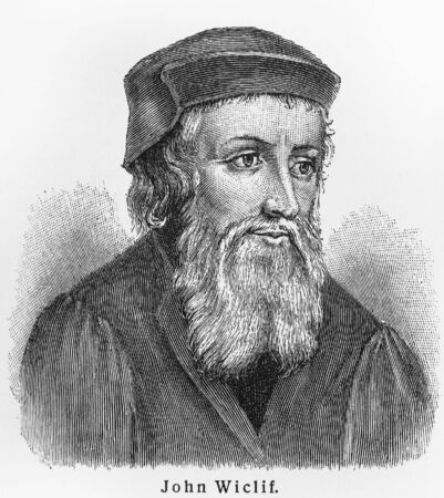 john: John Wycliffe - Picture from Meyers Lexicon books written in German language. Collection of 21 volumes published  between 1905 and 1909.