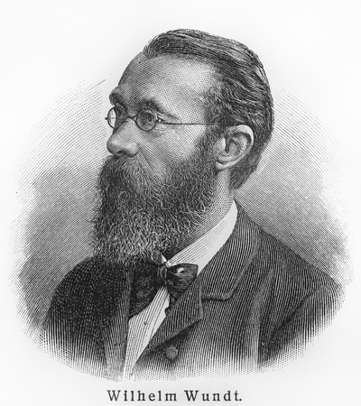 Wilhelm Wundt - Picture from Meyers Lexicon books written in German language. Collection of 21 volumes published  between 1905 and 1909.