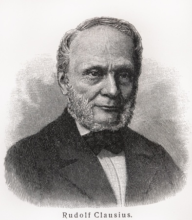 Rudolf Clausius - Picture from Meyers Lexicon books written in German language. Collection of 21 volumes published between 1905 and 1909.