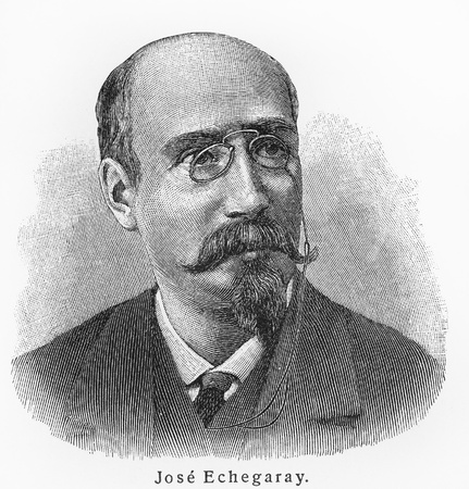 jose: Jose Echegaray - Picture from Meyers Lexicon books written in German language. Collection of 21 volumes published between 1905 and 1909.