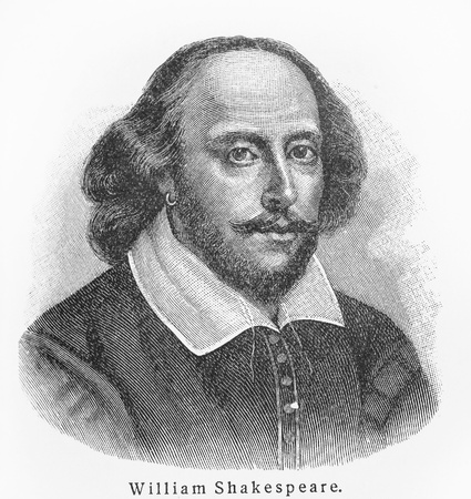 dramatist: William Shakespeare - Picture from Meyers Lexicon books written in German language. Collection of 21 volumes published between 1905 and 1909.
