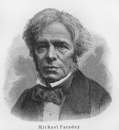 Michael Faraday - Picture from Meyers Lexicon books written in German language. Collection of 21 volumes published between 1905 and 1909.  Editorial
