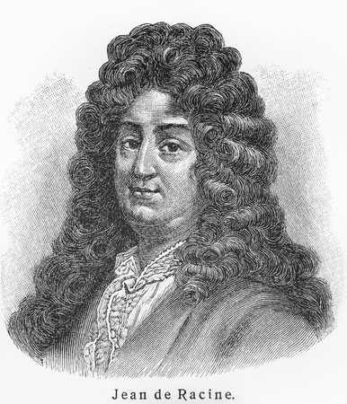 17th century: Jean Racine -  Picture from Meyers Lexicon books written in German language. Collection of 21 volumes published  between 1905 and 1909.
