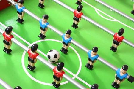 foosball: Football table detail