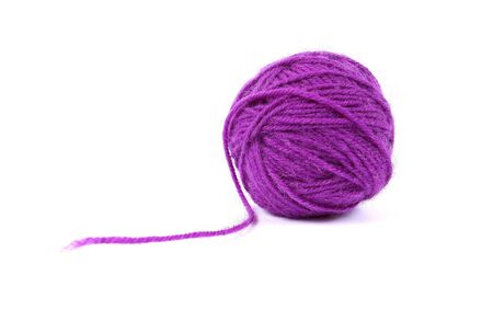 clew: Ball clew of mauve wool Stock Photo