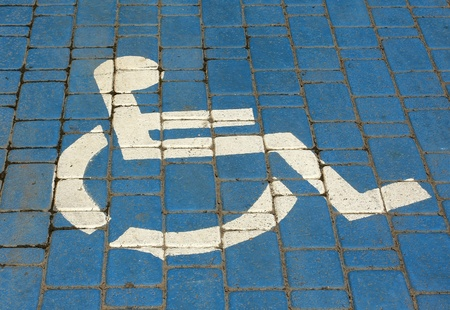 Handicapped parking sign photo