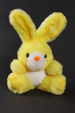 fluffy ears: Yellow toy bunny