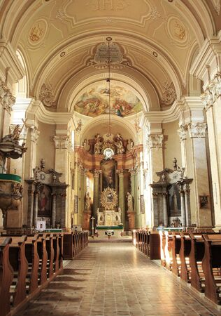 murals: Vintage Cathedral interior Editorial
