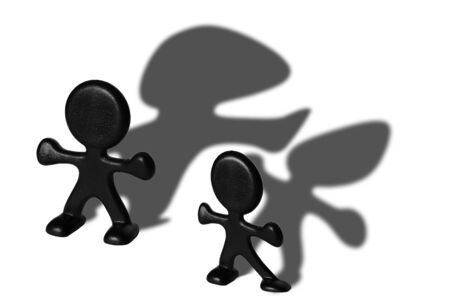 feats: Plastic figurines with shadows