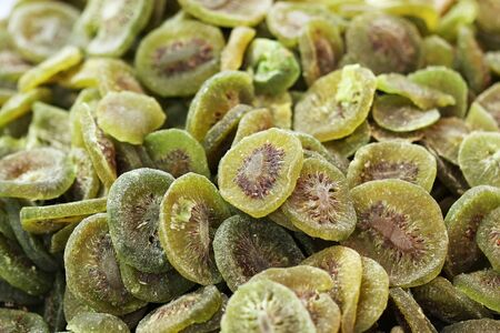 examples: Dried kiwi fruits close up