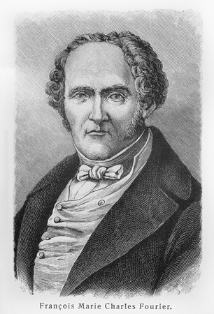 Charles Fourier - Picture from Meyers Lexicon books written in German language. Collection of 21 volumes published between 1905 and 1909.  Editorial