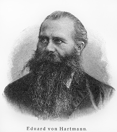 eduard: Karl Robert Eduard Hartmann - Picture from Meyers Lexicon books written in German language. Collection of 21 volumes published between 1905 and 1909.