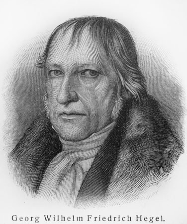 Georg Wilhelm Friedrich Hegel - Picture from Meyers Lexicon books written in German language. Collection of 21 volumes published between 1905 and 1909.