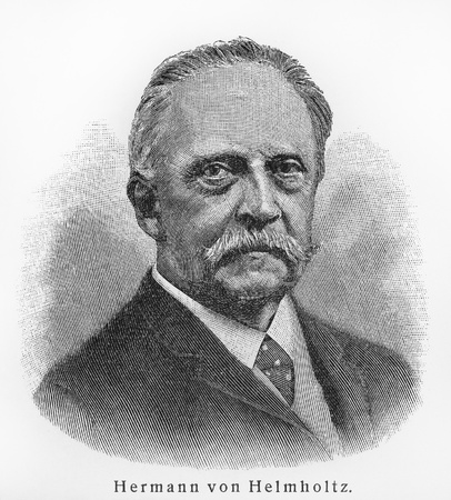 volumes: Hermann von Helmholtz - Picture from Meyers Lexicon books written in German language. Collection of 21 volumes published between 1905 and 1909.