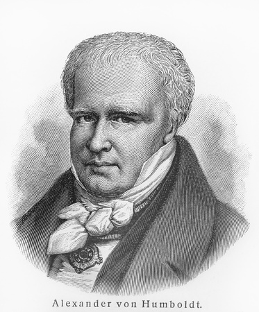 Alexander Humboldt - Picture from Meyers Lexicon books written in German language. Collection of 21 volumes published between 1905 and 1909.