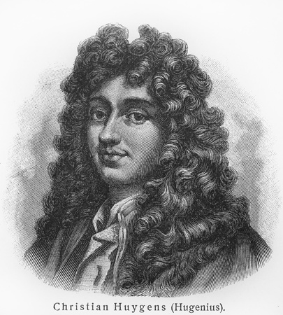Christiaan Huygens - Picture from Meyers Lexicon books written in German language. Collection of 21 volumes published between 1905 and 1909.