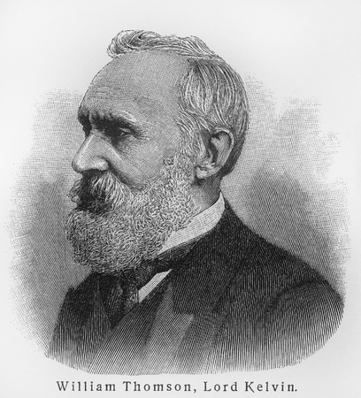 William Thomson 1st Baron Kelvin - Picture from Meyers Lexicon books written in German language. Collection of 21 volumes published between 1905 and 1909.  Editorial