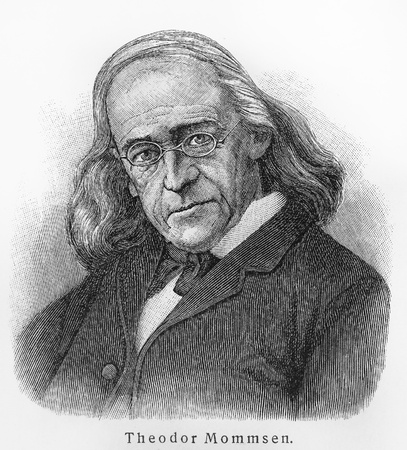 theodor: Theodor Mommsen - Picture from Meyers Lexicon books written in German language. Collection of 21 volumes published between 1905 and 1909.