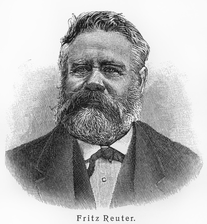 volumes: Fritz Reuter - Picture from Meyers Lexicon books written in German language. Collection of 21 volumes published between 1905 and 1909.  Editorial