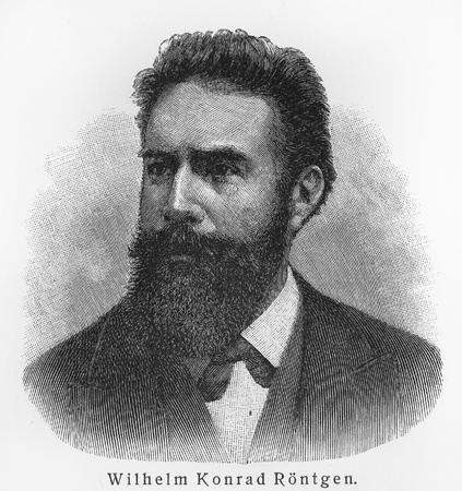 Wilhelm Conrad Rontgen - Picture from Meyers Lexicon books written in German language. Collection of 21 volumes published between 1905 and 1909.  Stock Photo - 11366225