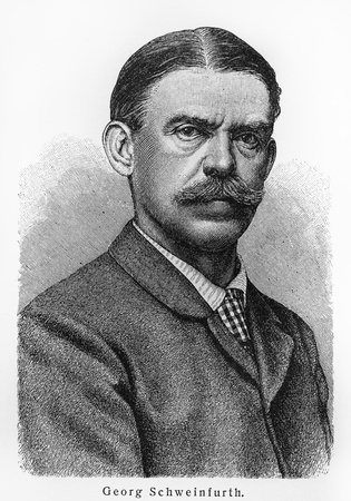 19th: Georg Schweinfurth - Picture from Meyers Lexicon books written in German language. Collection of 21 volumes published between 1905 and 1909.