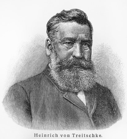nationalist: Heinrich von Treitschke - Picture from Meyers Lexicon books written in German language. Collection of 21 volumes published between 1905 and 1909.  Editorial