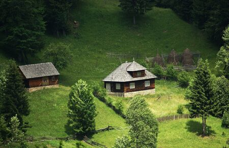 Traditional mountain house - in north Romania               photo
