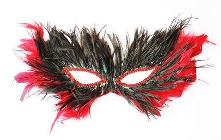 Feather mask isolated  photo