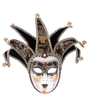 antifaz de carnaval: Máscara veneciana aislada en blanco