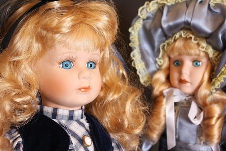Porcelain dolls detail photo