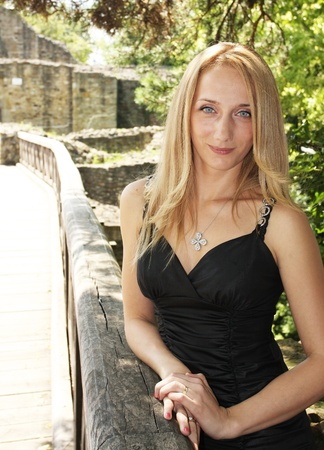 Young beautiful woman photo