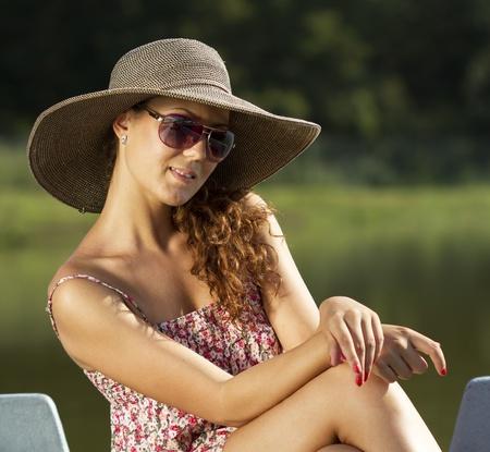Beautiful young woman portrait  photo