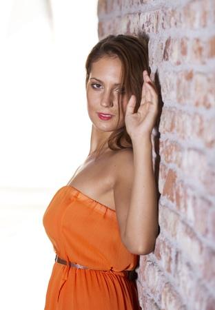 Fit beautiful woman portrait photo