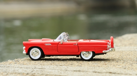 Retro toy car detail