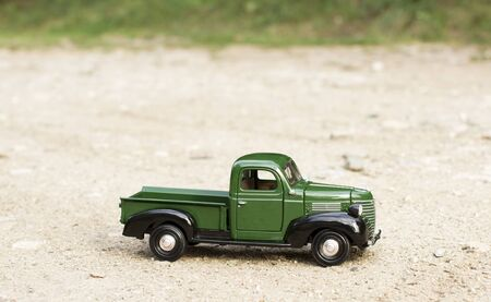 toy truck: Classic toy truck car Stock Photo