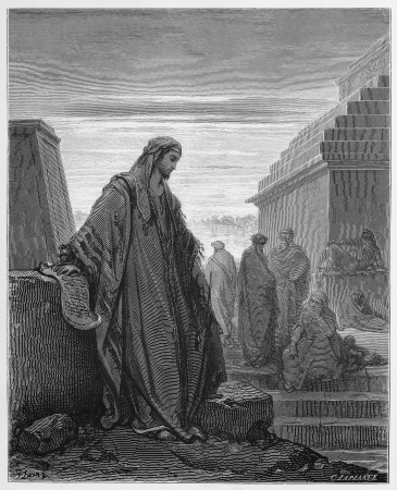 testaments: Daniel from the Book of Daniel - Picture from The Holy Scriptures, Old and New Testaments books collection published in 1885, Stuttgart-Germany. Drawings by Gustave Dore.