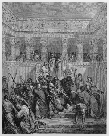 The Justification of Susanna - Picture from The Holy Scriptures, Old and New Testaments books collection published in 1885, Stuttgart-Germany. Drawings by Gustave Dore.  Stock Photo - 16102384