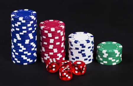 Casino chips and dices Stock Photo - 16354164