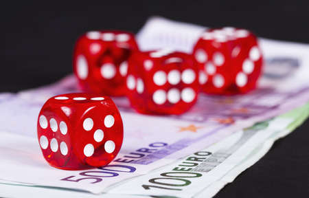 Casino dices over money detail photo