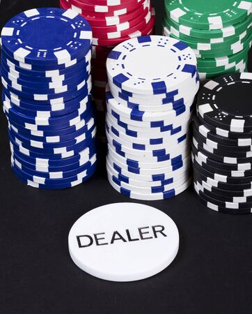 derail: Casino dealer chips stack