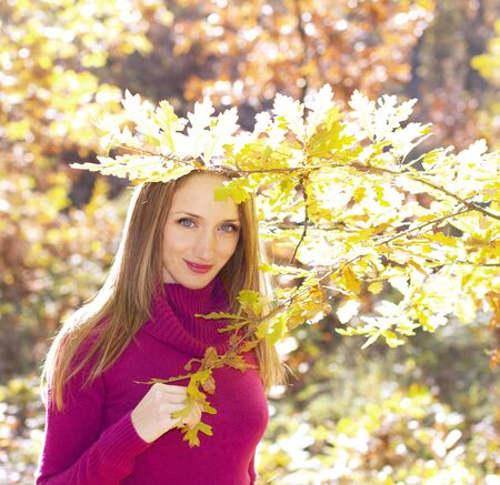 Outdoor girl in autumn photo